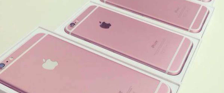 Foto's roze iPhone 6s gelekt