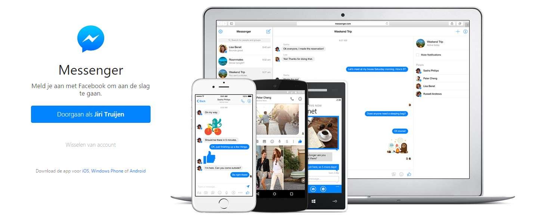 Aparte website voor Facebook Messenger