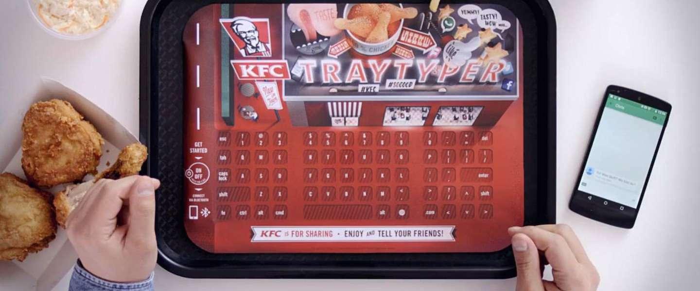 KFC verandert dienbladen in toetsenborden