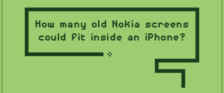 Hoeveel Nokia 5110's passen in een iPhone 6s Plus?