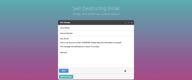 Gmail laat je nu self-destructing mails verzenden met Dmail