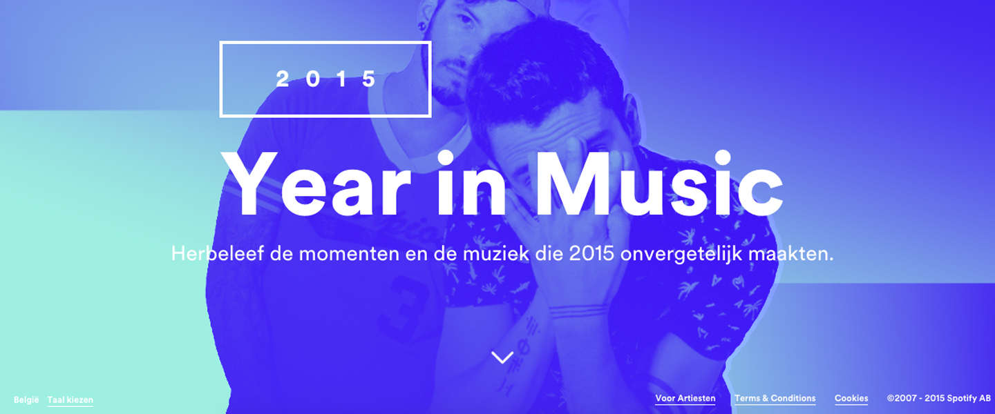 Spotify lanceert Your Year in Music