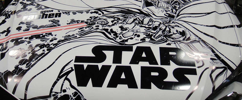 De auto's van Star Wars figuren