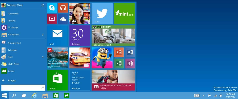 Windows 10 gaat weer terug naar het oude