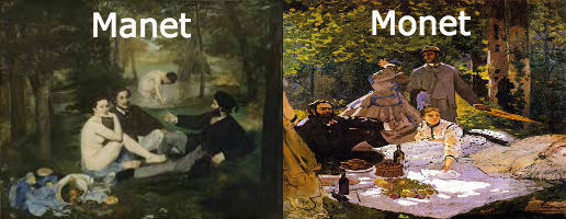 Manet vs Monet
