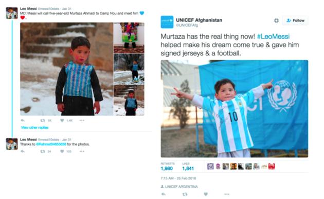 Messi - Unicef tweet