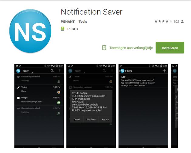 Notification Saver