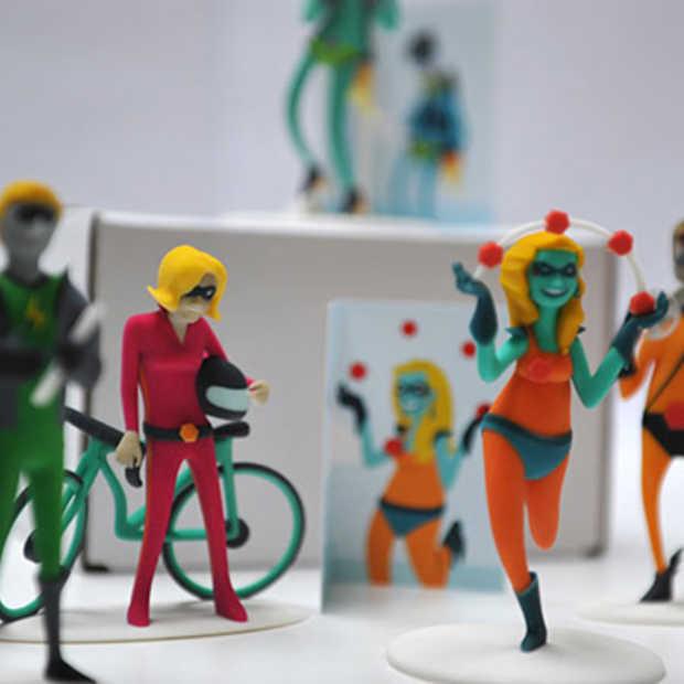 3D action figures in plaats van naamkaartjes bij het Nederlandse Resoluut