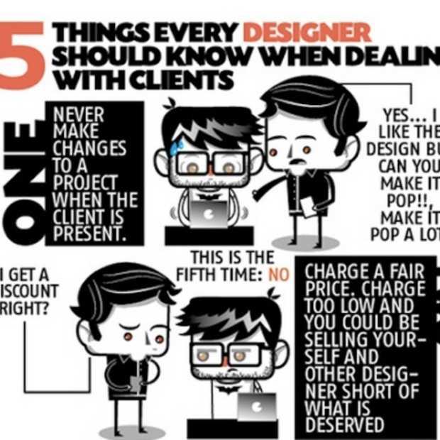 5 zaken die elke designer zou moeten weten als hij met klanten omgaat [infographic]