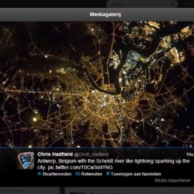 Antwerpen vanuit de ruimte: astronaut tweet indrukwekkend ruimtebeeld