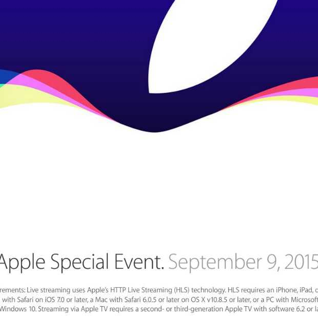 Apple Event: Apple Watch, iPad Pro, Apple TV en iPhone 6s en 6s Plus