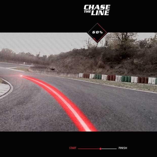 Peugeot 308 GTi Chase the line, een interactieve racefilm