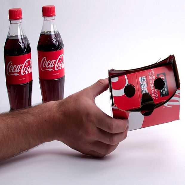 Maak zelf een Virtual Reality bril met Coca Cola