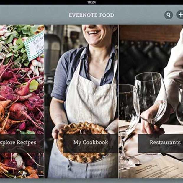 Evernote lanceert een updated versie van zijn Food-App
