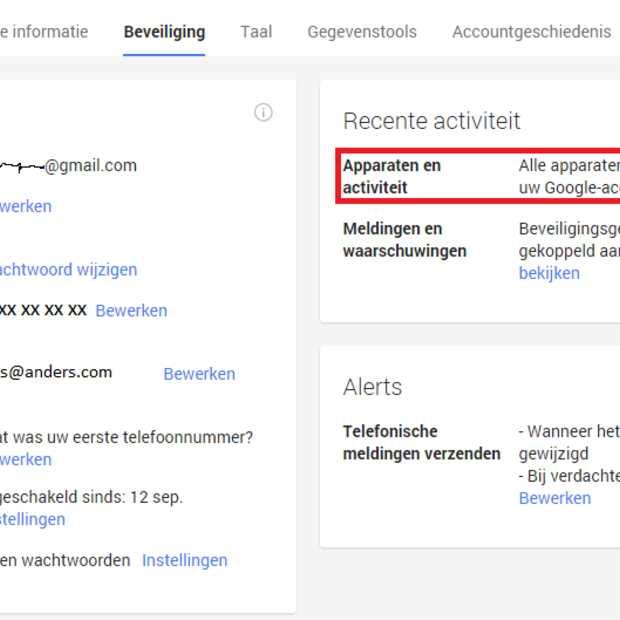 Extra beveiliging voor je Google account