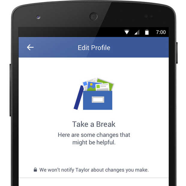 Facebook experimenteert met break-up tool