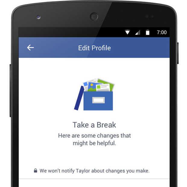 Facebook experimenteert met break-up tool