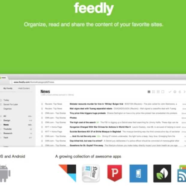 Feedly lanceert webversie en alternatief voor Google Reader met 'Feedly Cloud'