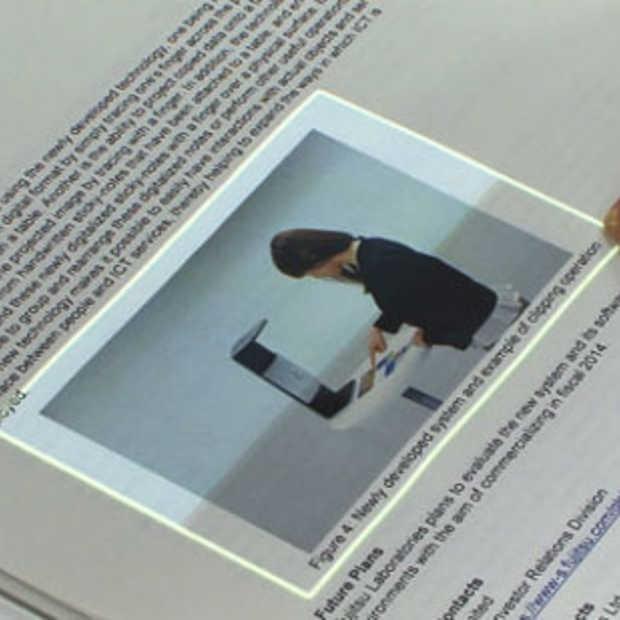 Fujitsu maakt touchscreen van papier