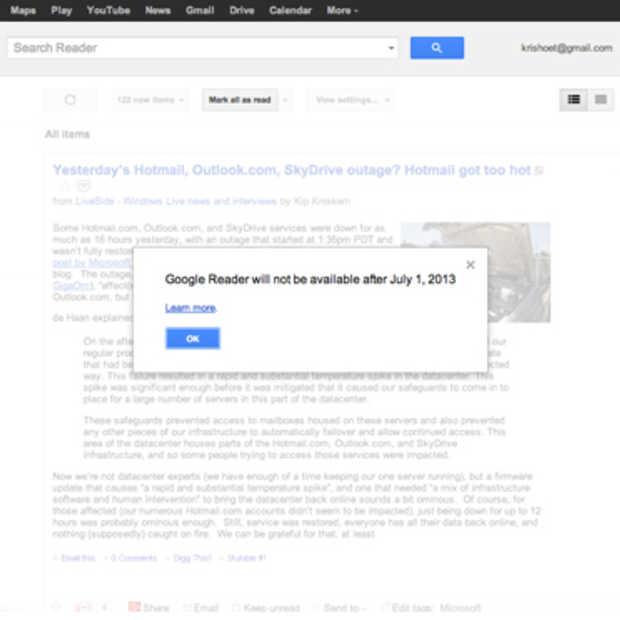 Google Reader verdwijnt vanaf 1 juli. Is er wel een alternatief?