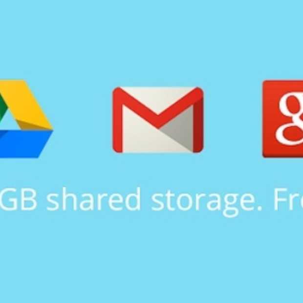 Google voegt opslag van Gmail, Drive en Google+ foto's samen tot 15GB