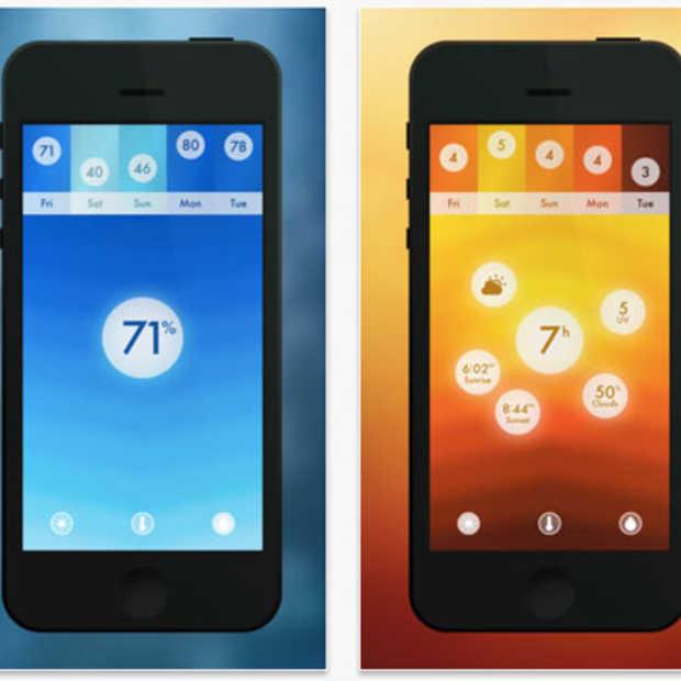 Haze, een minimalistische weer app.