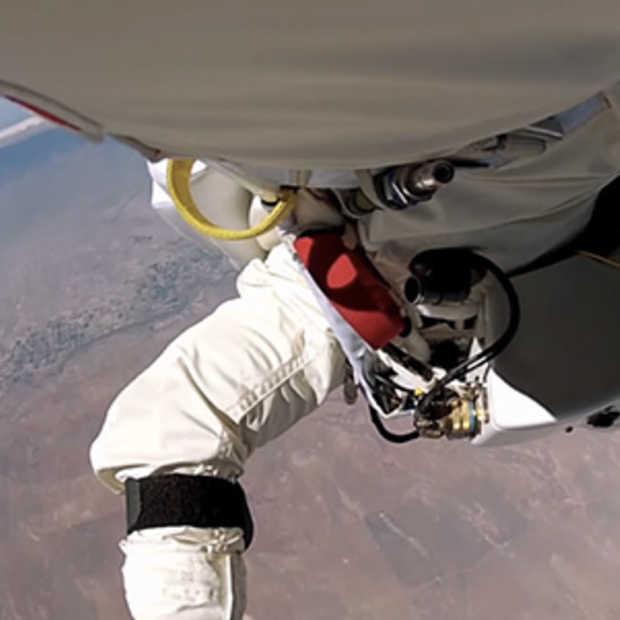 Herbeleef de 'Stratos Jump' vanop de eerste rij
