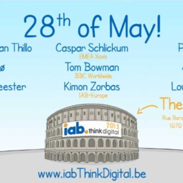 Hét event voor digitale marketing 'IAB ThinkDigital': afspraak 28 mei in The Egg Brussels