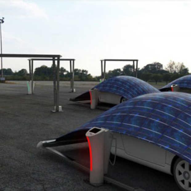 Het V-Tent parkeersysteem kan elektrische auto's zeer populair maken