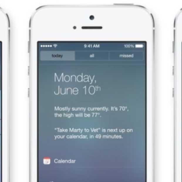 iOS7: Apple lanceert een volledige redesign van hun mobiele platform