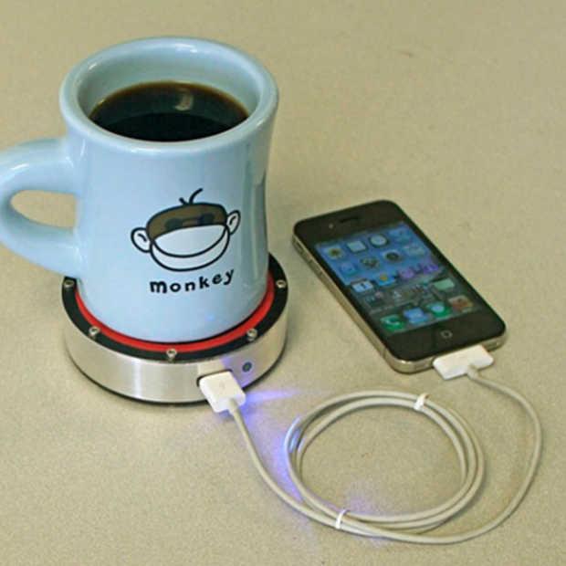 Je iPhone opladen met je koffietas? Het kan met de onE Puck