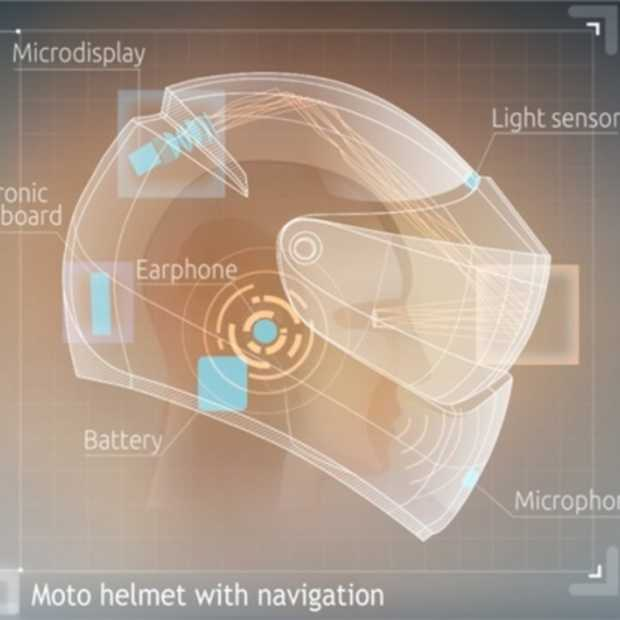 LiveMap: futuristische motorhelm met built-in navigatie en voice controlled interface