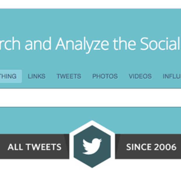 Met Topsy kan je zoeken door alle Tweets ooit gepost. Alle 425 miljard!