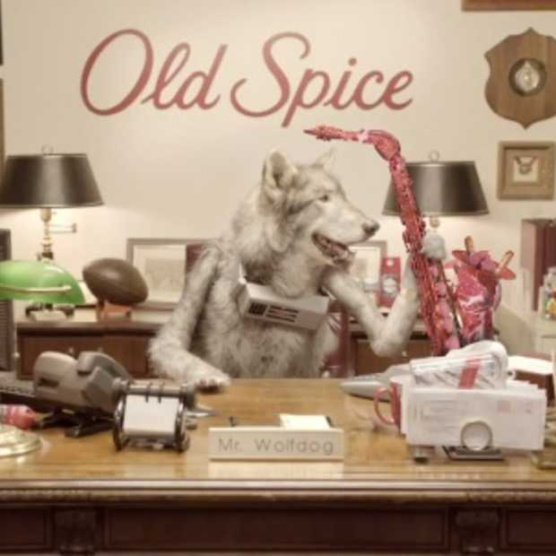 Mr. Wolfdog is de nieuwe marketing directeur van Old Spice