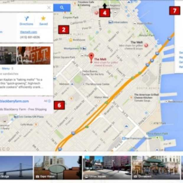 Nieuwe Google Maps interface