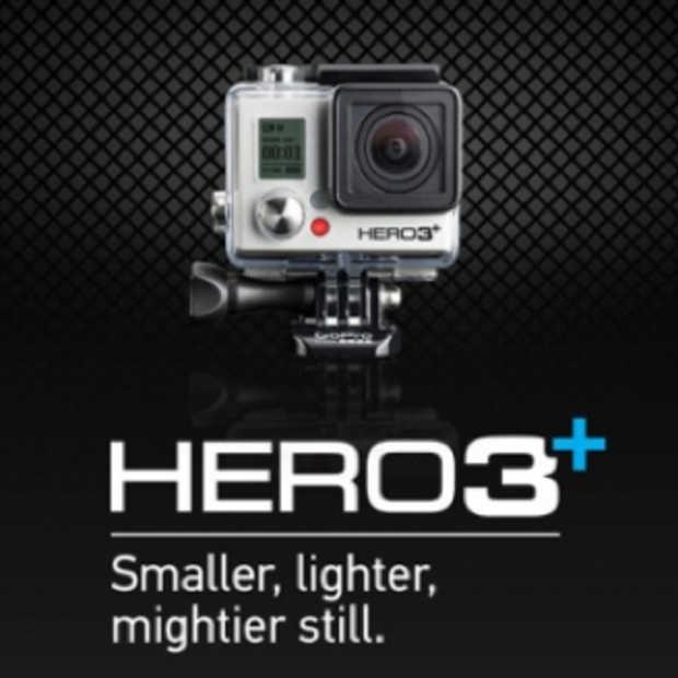 Nieuwe GoPro Hero3+ is kleiner en beter