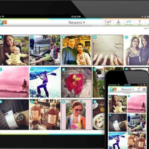 Organiseer met de WideAngle app nu ook op je iPhone al je foto's over alle sociale netwerken