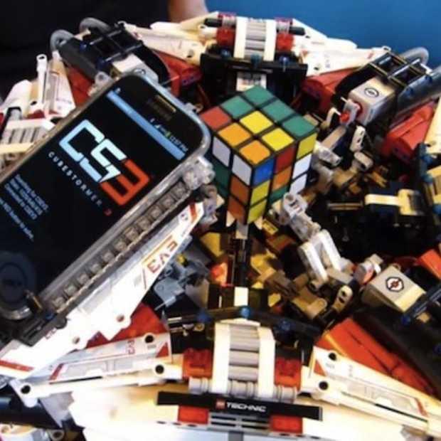 Robot lost een Rubiks kubus op in 3,2 seconden