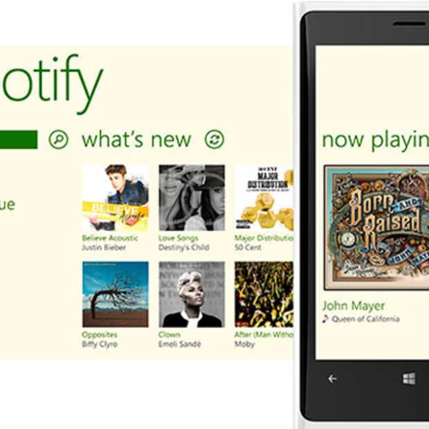 Spotify nu ook beschikbaar op Windows Phone 8