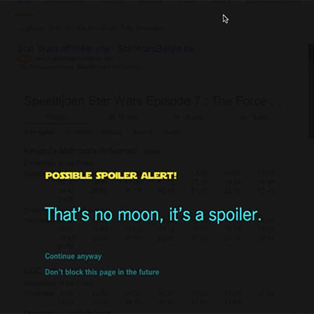 Star Wars: de spoiler blocker