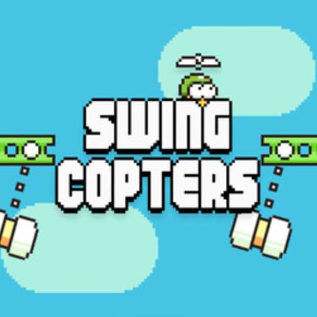 Swing Copters, nog frustrerender dan Flappy Bird.