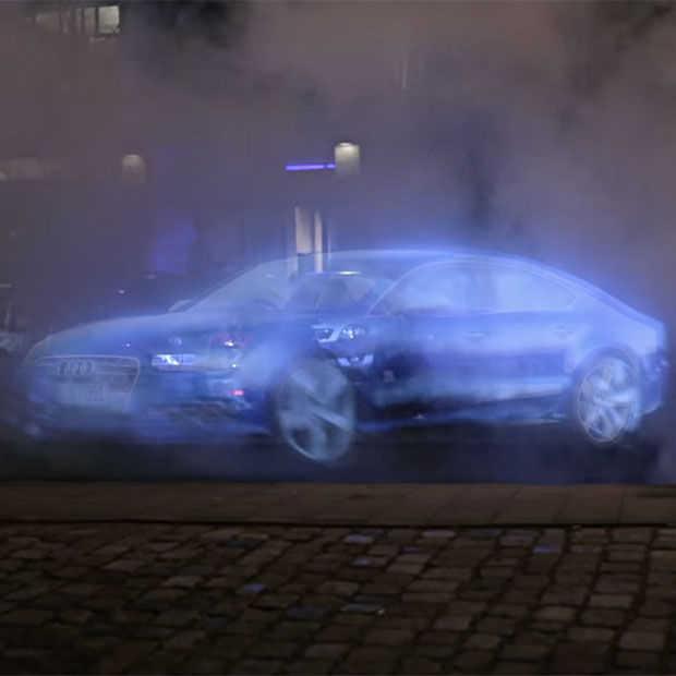 Ook de reclame van de Audi A7 Sportback h-tron laat geen sporen na