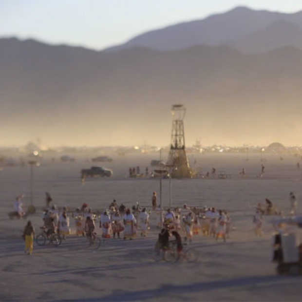 Timelapse video van de Burning Man 2012