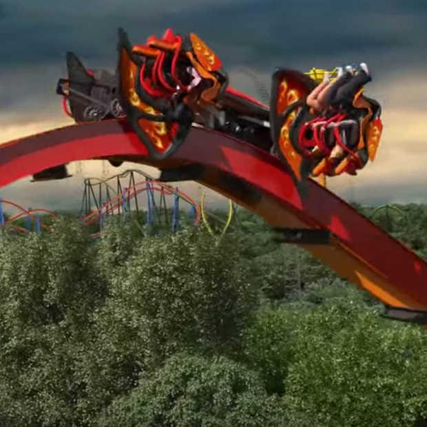 Een virtueel ritje in de nieuwe achtbaan van Six Flags: Total Mayhem