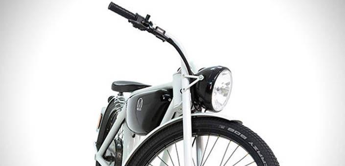 Vintage design voor elektrische moped. Hier is de Motorman.