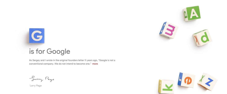 Google krijgt nieuw moederbedrijf: Alphabet