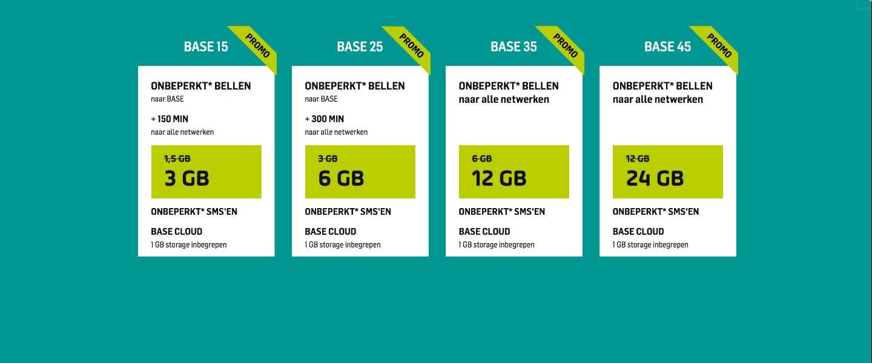 BASE klanten kunnen nu genieten van dubbele data!