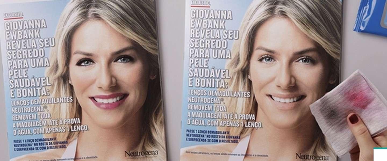 Nog niet eerder vertoond: make-up verwijderen van een magazine