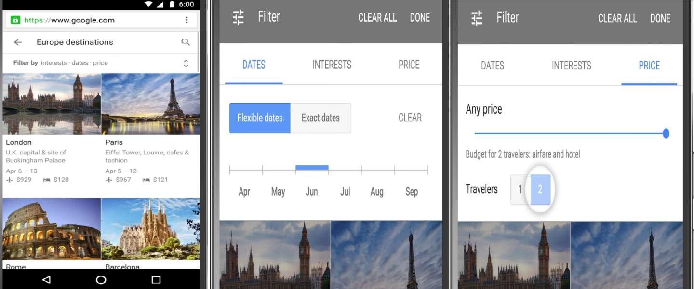 Google maakt je reis plannen makkelijker