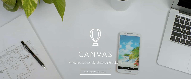 Facebook brengt Canvas